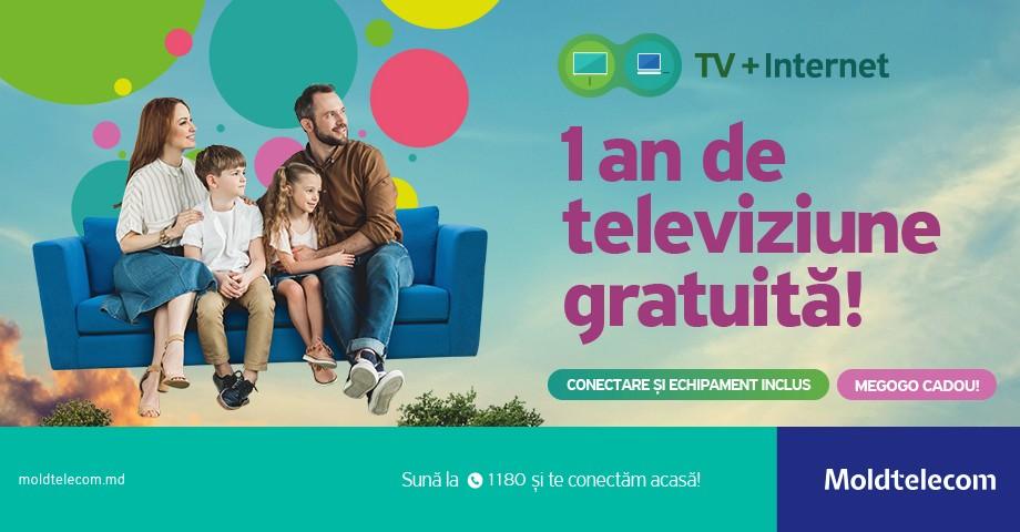 1 an de televiziune digitală gratuită de la Moldtelecom