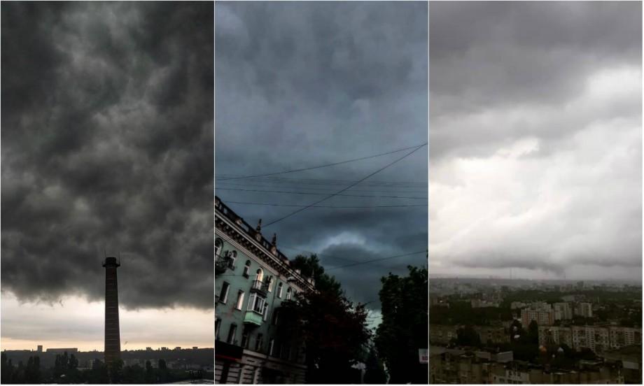 (foto, video) Ploile au venit pe rețelele de socializare. Cum au surprins chișinăuienii ploaia torențială de august
