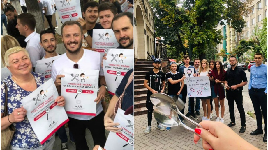 """""""Solicităm insistent anularea inițiativei de majorare a cotei TVA.""""Angajații HoReCa au depus o petiție la Parlament, în urma protestului"""