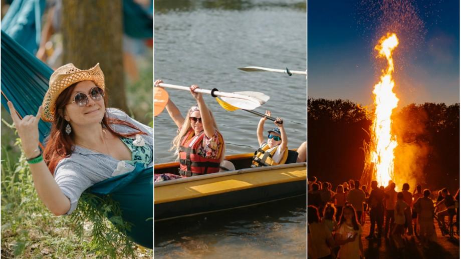 (foto) 5000 de oameni au făcut yoga, au pictat sau au făcut kayaking pe Nistru. Cum a fost la Hodina