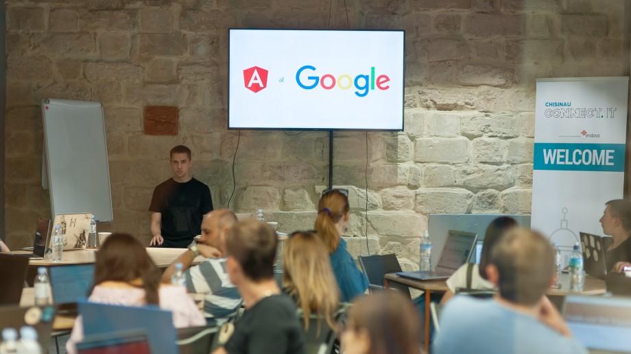 (foto) Angular CodeLab la Chișinău cu un mentor de la Google