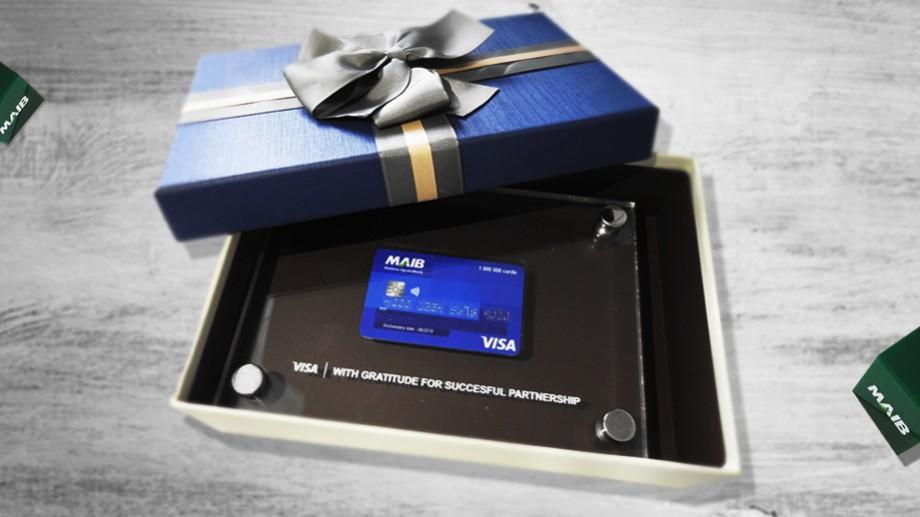 1 000 000 de carduri Visa emise de MAIB. Mulţumim clienţilor pentru performanţa comună