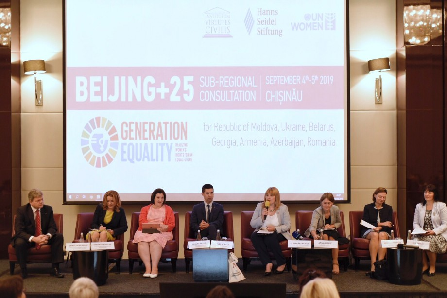"""La Chișinău se desfășoară un eveniment istoric. Cele mai bune promotoare ale drepturilor femeilor s-au întrunit la consultările sub-regionale """"Beijing+25"""""""