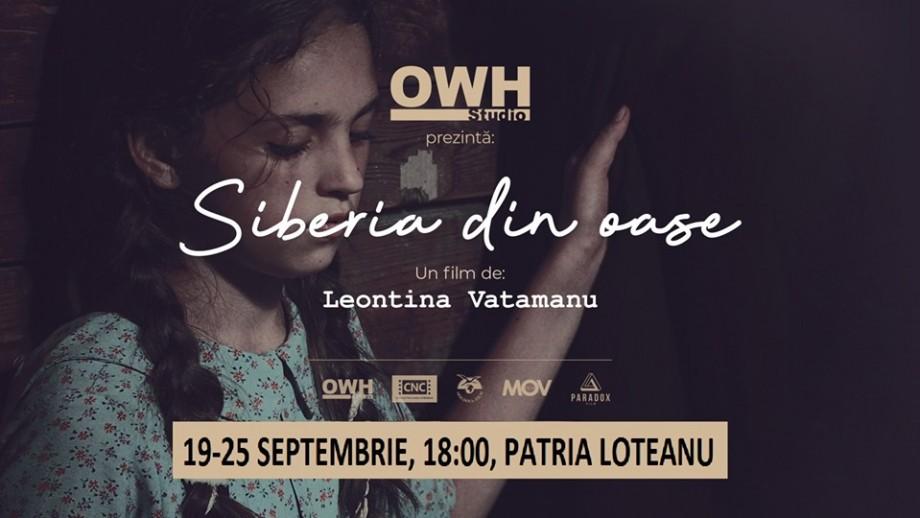 """În perioada 19-25 septembrie la Cinematograful Patria """"Emil Loteanu"""", va avea loc proiecția filmului """"Siberia din oase"""" în regia Leontinei Vatamanu"""
