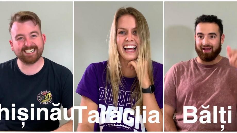 (video) Chișinău, Bălți sau Fundul Galbenei. Șase tineri din SUA încearcă să pronunțe numele localităților din Moldova
