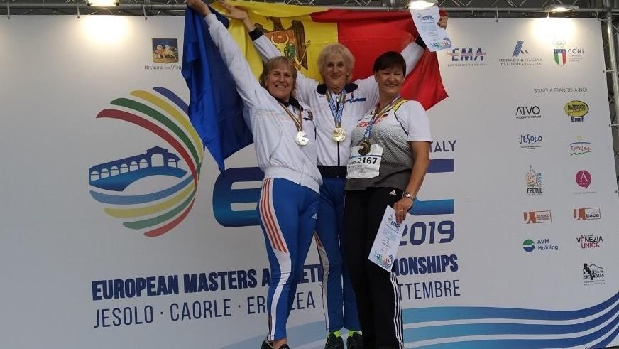 Moldova a cucerit trei medalii la Campionatul European de atletism printre veterani