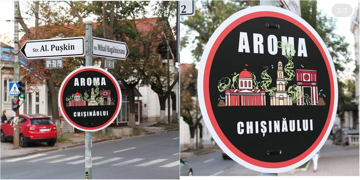 Mirosul neplăcut din Chișinău a devenit un brand local. Night Creatures a instalat un indicator creativ în centrul capitalei