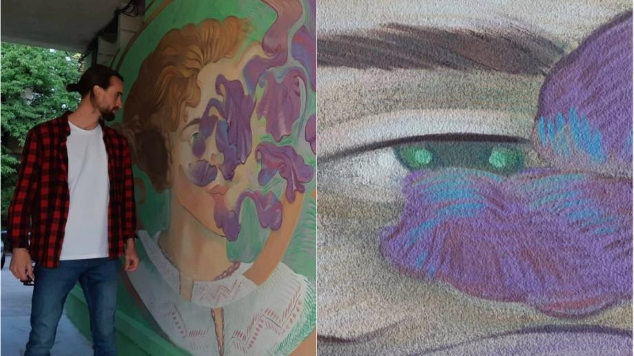 """(foto) """"Ferește-te de gri"""". Artistul moldovean Radu Dumbravă cucerește România prin culori și artă stradală"""