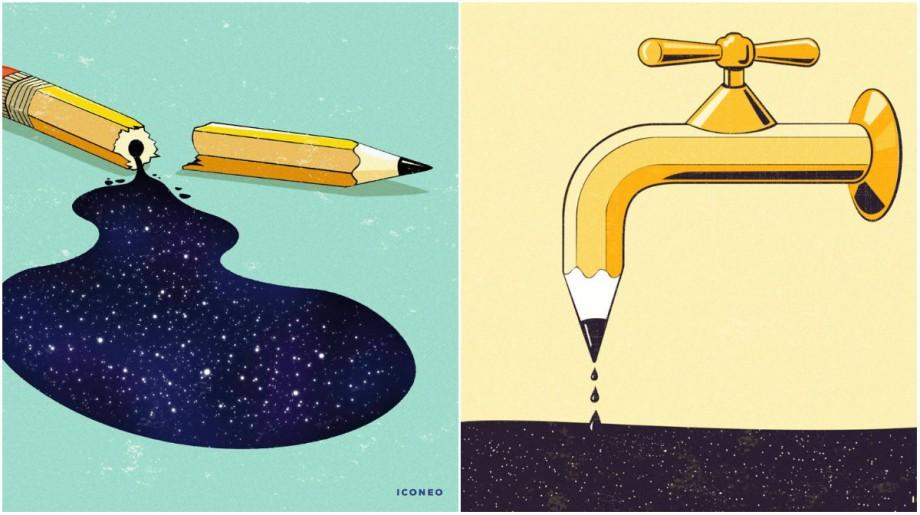 (foto) Mai mult decât un instrument și esențial pentru artă. Un artist prezintă creionului din 18 perspective diferite