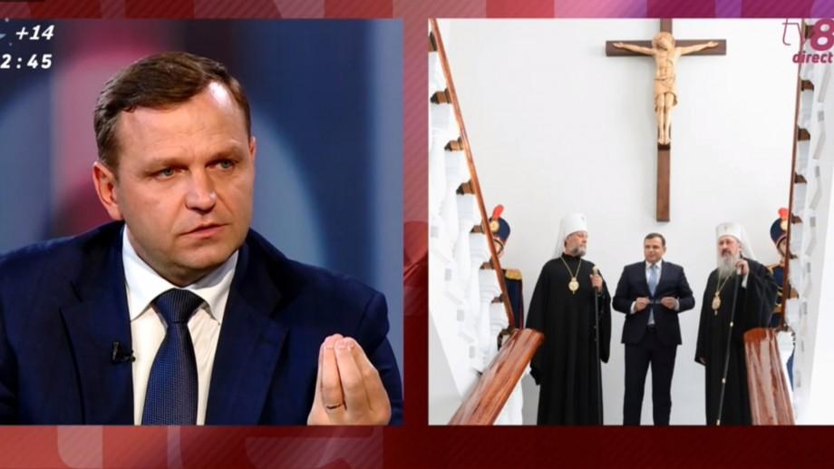 """Andrei Năstase explică de ce a ridicat un crucifix la Ministerul de Interne: """"Am transmis un mesaj de unitate într-o societate dezbinată"""""""