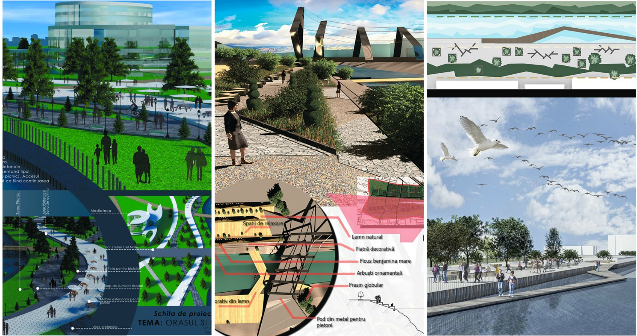 (foto) Cum ar putea arăta albia râului Bâc. Studenții și profesorii de la UTM au elaborat mai multe proiecte