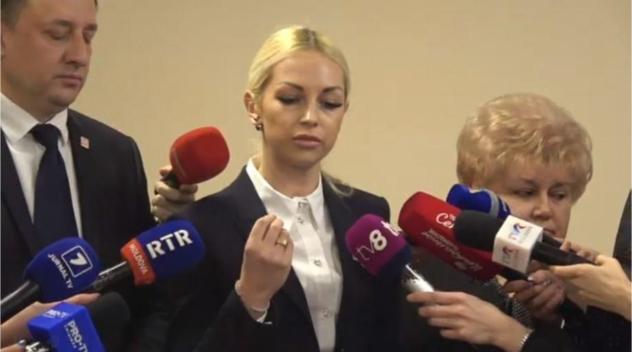 (video) Marina Tauber a fost reținută la Orhei după ce Parlamentul a lăsat-o fără imunitate