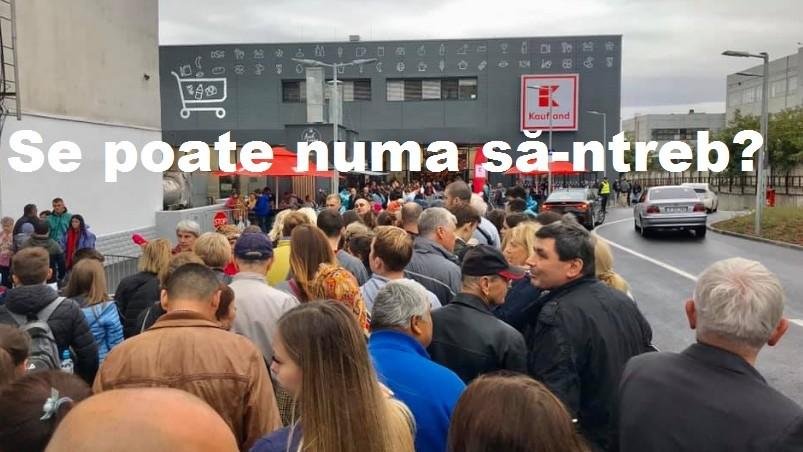 Reacțiile internauților la deschiderea cu ploaie și rând a magazinelor Kaufland la Chișinău