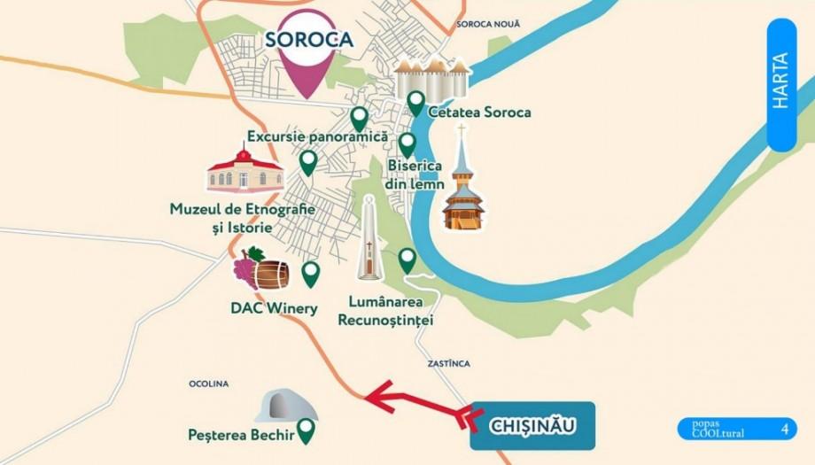 (doc) Ghidul care te ajută să descoperi destinațiile turistice și localurile cu mâncare tradițională din orașul Soroca
