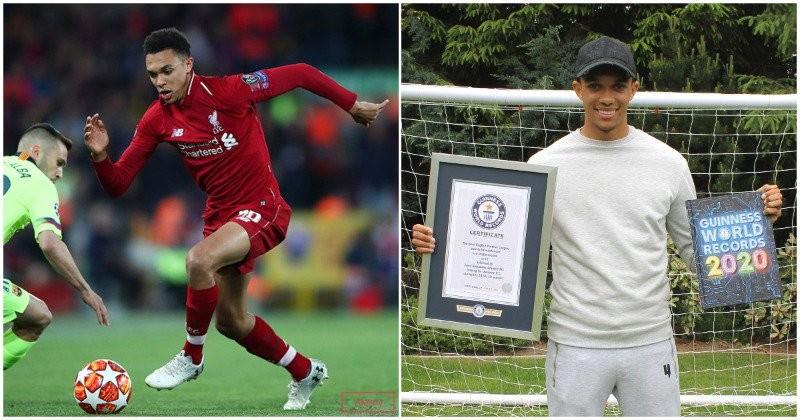 (foto) Fotbalistul Trent Alexander-Arnold de la Liverpool a stabilit un nou record mondial