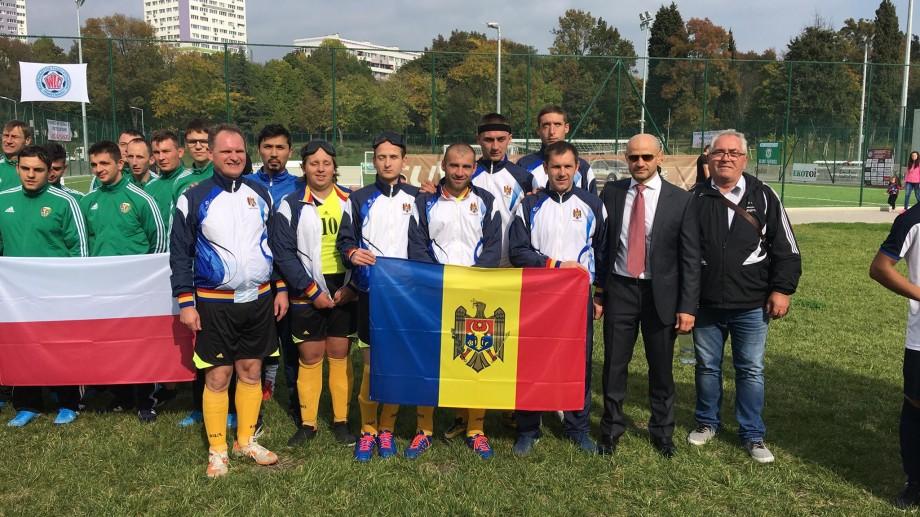 O echipă de fotbal pentru nevăzători din Moldova a jucat în finala Cupei Mondiale