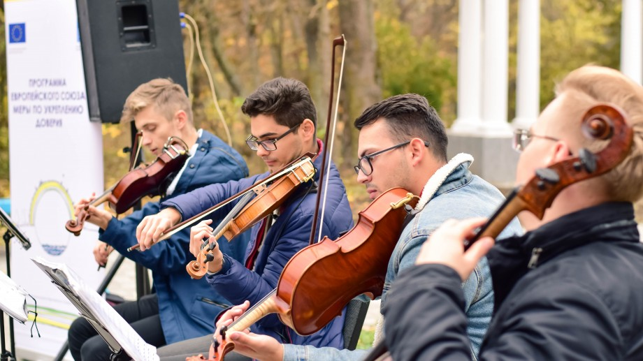 (foto) Prima etapă a proiectului Music Connecting People s-a încheiat. Tinerii au susținut un concert open air la Camenca