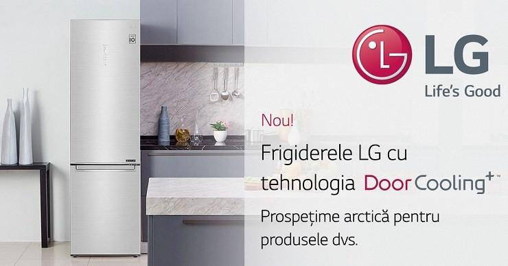 Frigidere LG V +. Tehnologii avansate pentru prospețimea maximă a produselor