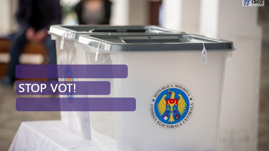 Stop Vot! Secțiile de pe teritoriul Republicii Moldova s-au închis