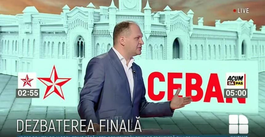 """Ceban la PRIME: """"Nu merg la TV pentru proprietarii lor, ci pentru a mă adresa audienței canalelor"""""""