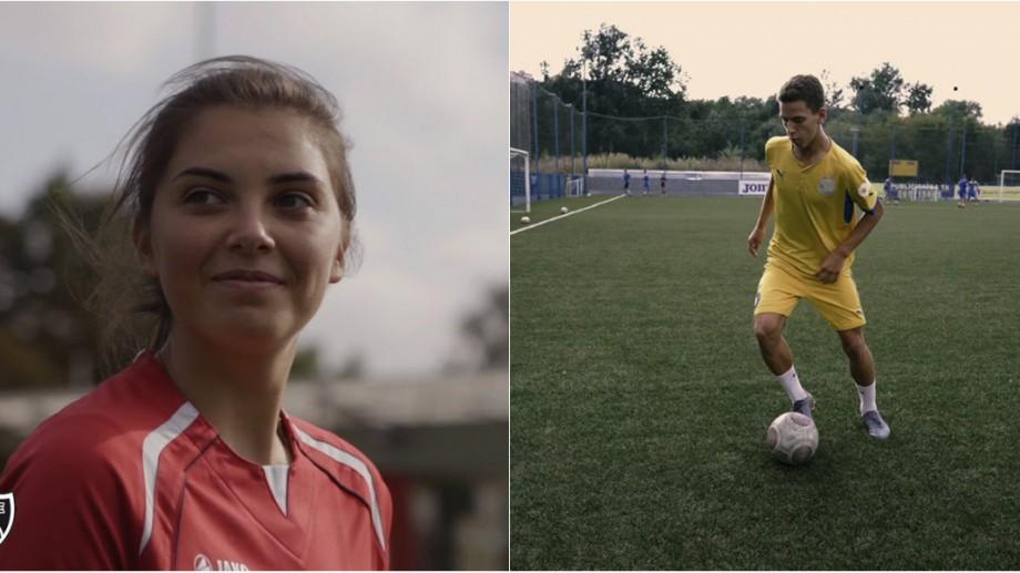 (video) De la fotbal jucat în curte până la reprezentarea echipei naționale de juniori. Află istoriile de performanță a doi tineri fotbaliști