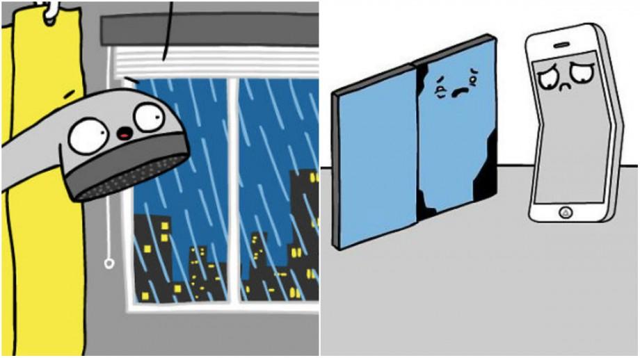 """(foto) """"Plouă cu oameni din nou."""" 13 benzi desenate în care obiectele prind viață, în viziunea unui tânăr artist"""