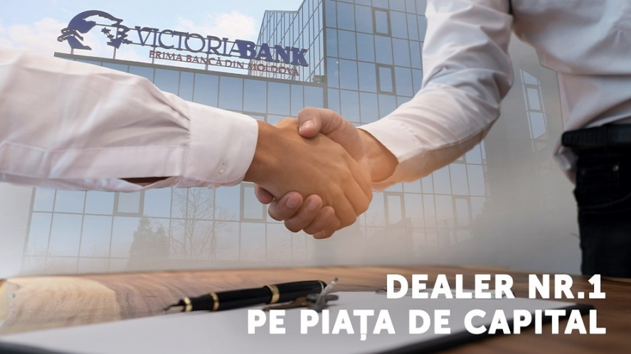 Victoriabank, lider pe piața de capital din Moldova