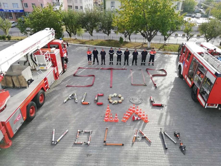 """(foto) """"Pentru că viața are prioritate"""". Pompierii și salvatorii s-au alăturat campaniei """"Stop alcool la volan"""""""