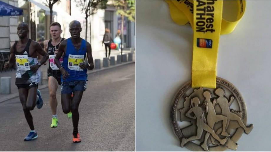 (foto) Pompierul IGSU, Maxim Raileanu, a ocupat locul I la Maratonul Internaţional desfășurat la București