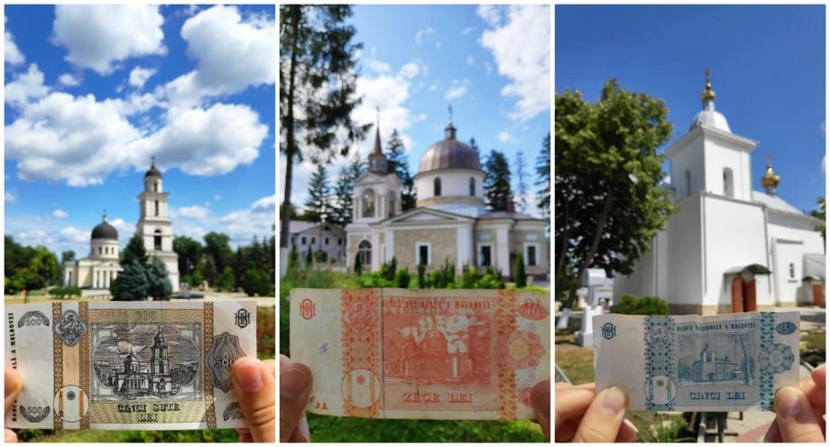 """(foto) """"A fost o experiență veselă."""" Doi tineri au fotografiat locațiile care sunt imprimate pe bancnotele moldovenești"""