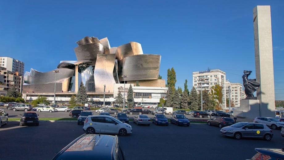 (foto) Un candidat la funcția de primar propune construcția unui Muzeu Guggenheim în locul Hotelului Național