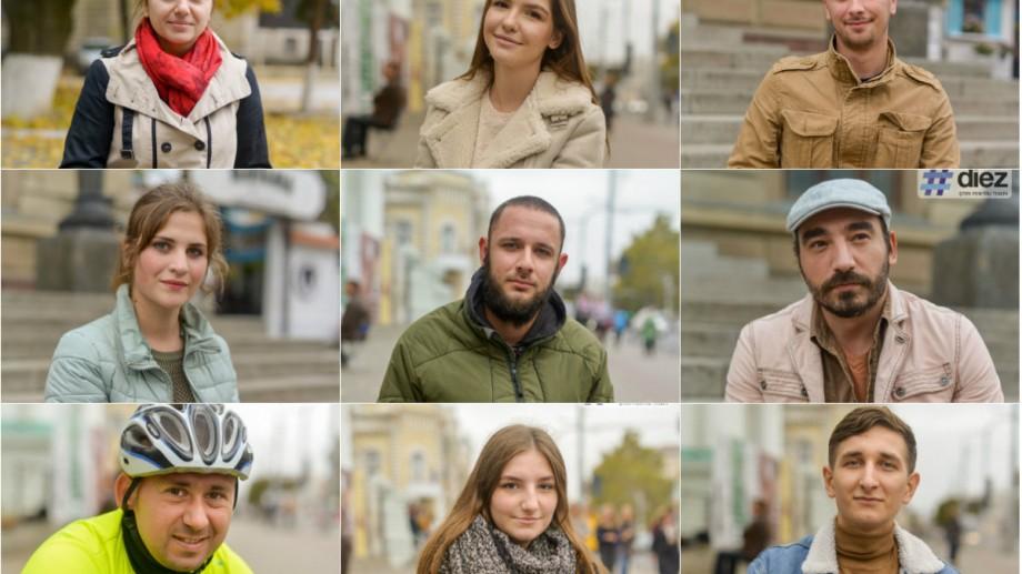 (galerie foto) Așezați pe taburet, 38 de chișinăuieni privesc spre viitor. Cu ce fețe au votat oamenii în Capitală