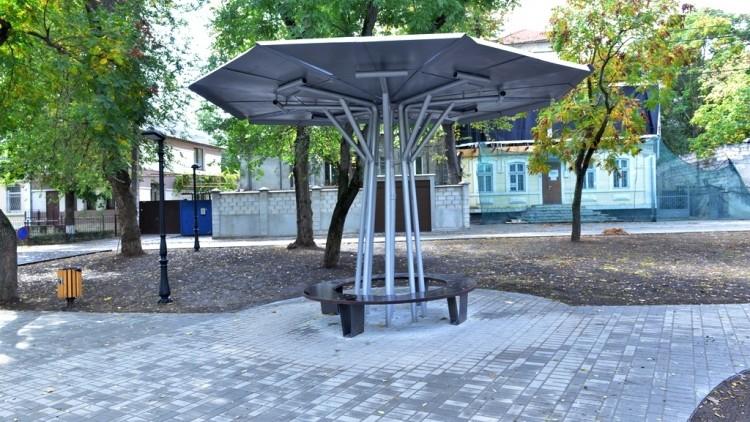(foto) Lucrările de amenajare a scuarului de pe strada George Coșbuc au fost finalizate