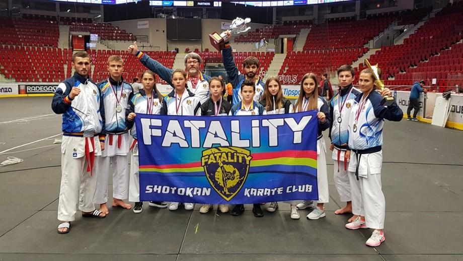 Lotului Moldovei la karate shotokan a cucerit opt medalii de aur la Mondialul din Cehia