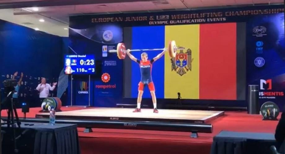 Halterofilul Daniel Lungu a câștigat stilul smuls la Campionatul European Under 23
