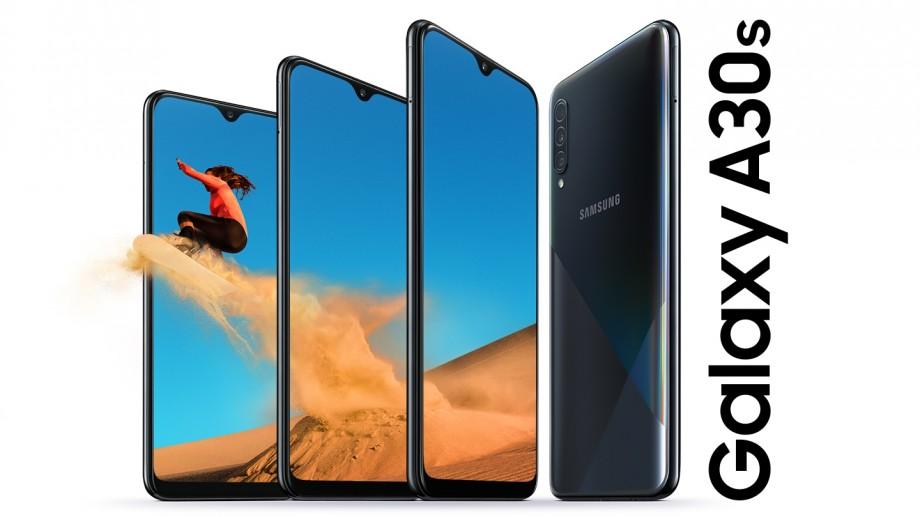 (foto) Samsung lansează noul Galaxy A30s cu o cameră triplă, amprentă digitală pe ecran, combinat într-un design futurist