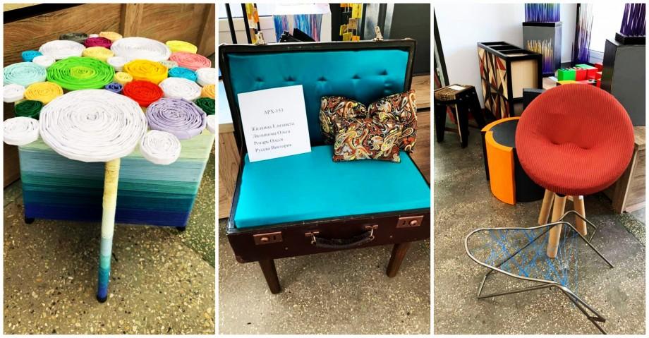(foto) Arhitecții de la UTM și-au dat frâu liber fanteziei și au realizat scaune și fotolii din materiale reciclabile