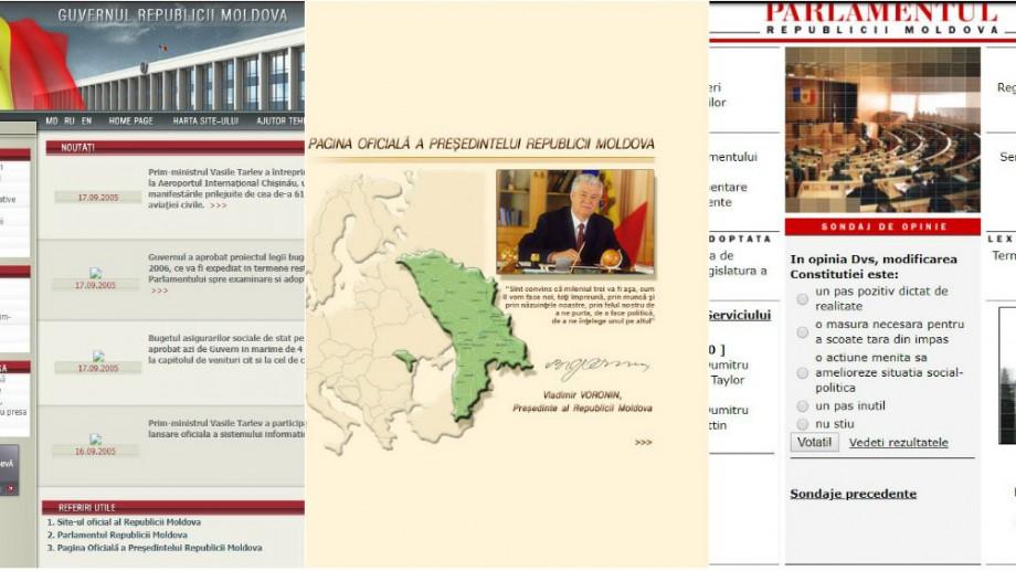 (foto) Internetul nu uită nimic. Cum arătau primele versiuni ale site-urilor instituțiilor de stat din Moldova