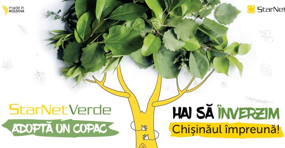 ",,Adoptă un Copac"". O nouă campanie eco-friendly marca StarNet"