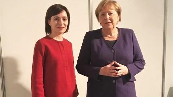 Maia Sandu a avut o nouă întâlnire cu Angela Merkel. Ce i-a spus cancelara Germaniei