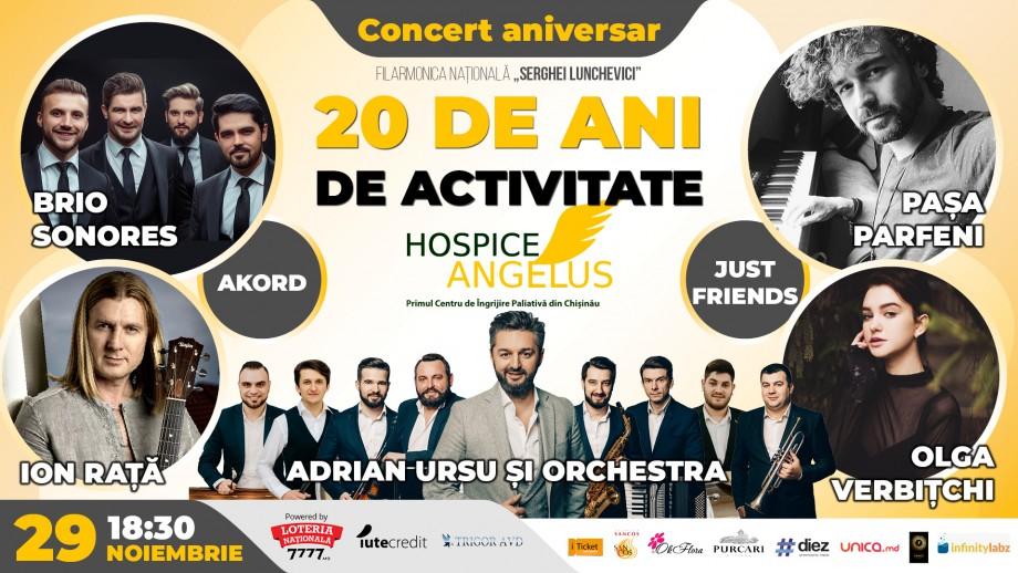 Hospice Angelus Moldova te invită la un concert aniversar cu cele mai îndrăgite voci din țară