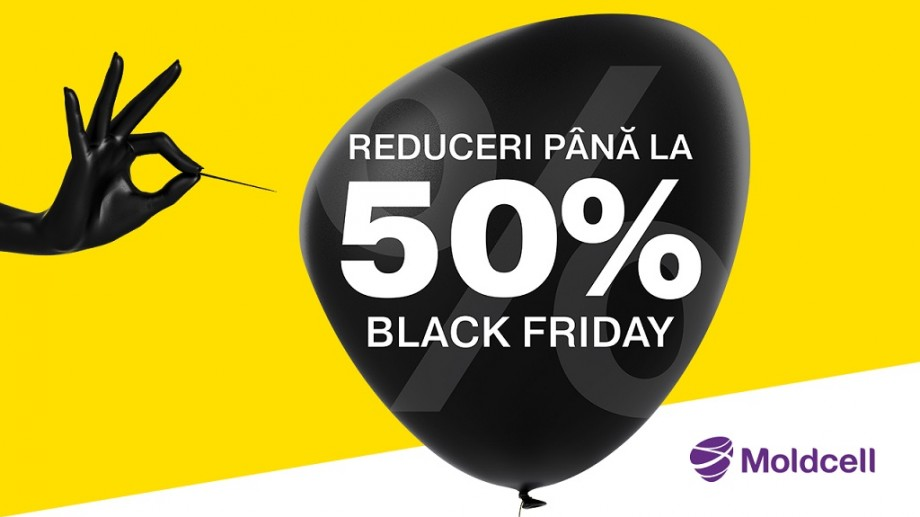 (video) De Black Friday, ai reduceri online de până la -50 % la Moldcell