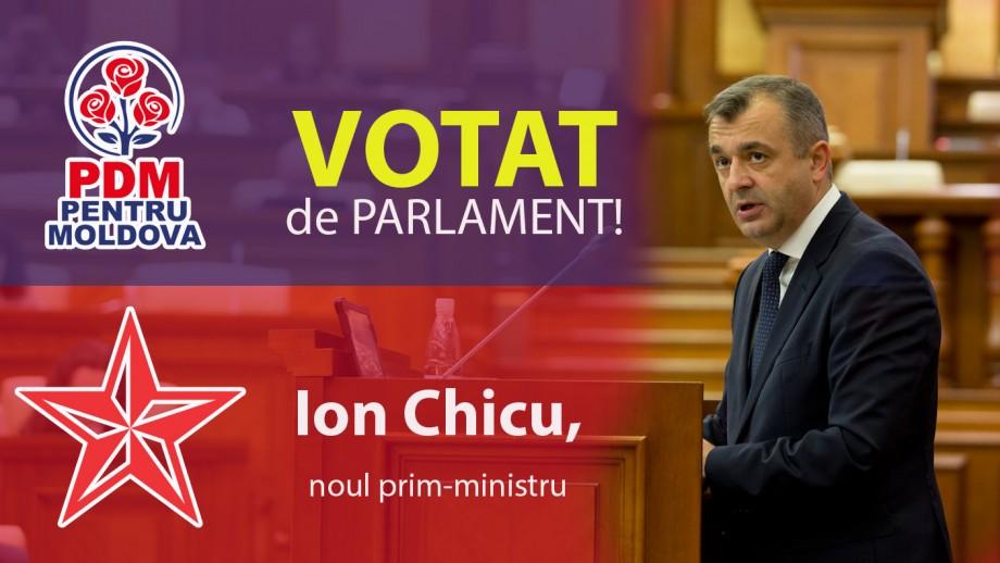 """Avem un nou guvern! A primit voturile din partea deputaților PSRM și PD. Chicu: """"Programul meu este până la prezidențialele din 2020"""""""