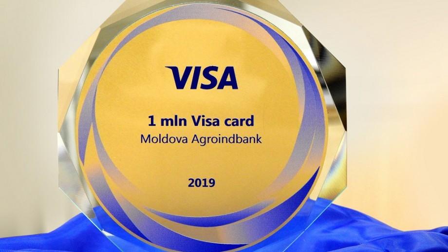 MARELE premiu pentru 1 000 000 de carduri VISA emise i-a revenit MAIB