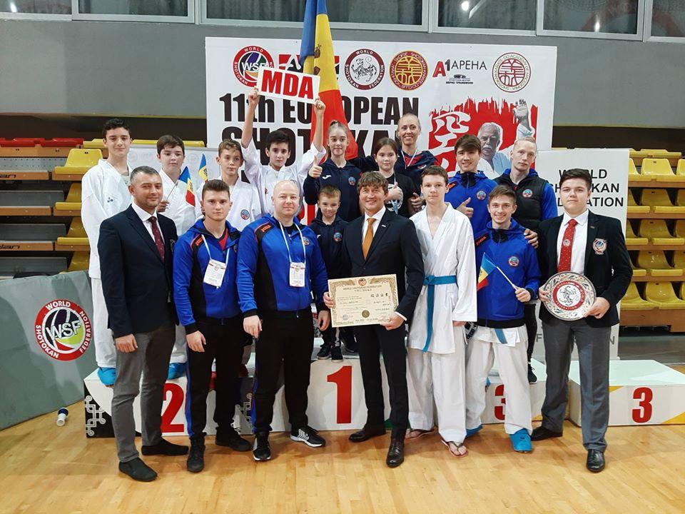 Sportivii moldoveni au cucerit 14 medalii de aur la Campionatul European de Karate WSF