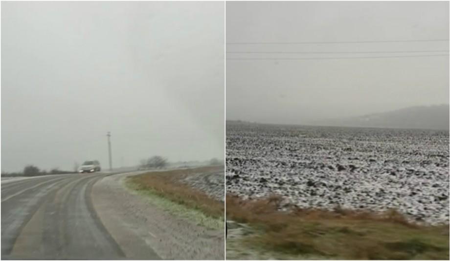 (video) Iarna ajunge în Moldova. În nordul țării au căzut primii fulgi