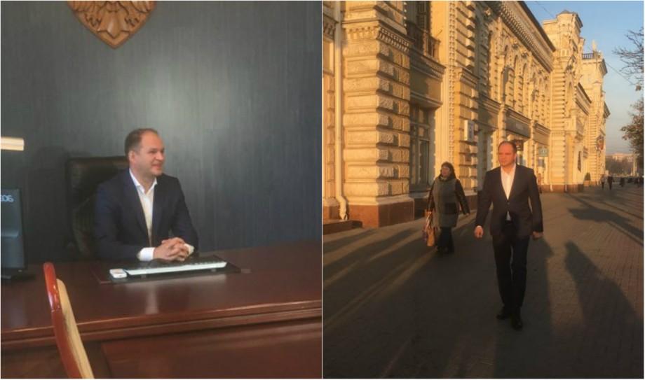 """(foto) Prima zi în funcția de primar al Capitalei. Ion Ceban: """"Astăzi îmi suspend calitatea de membru al PSRM"""""""