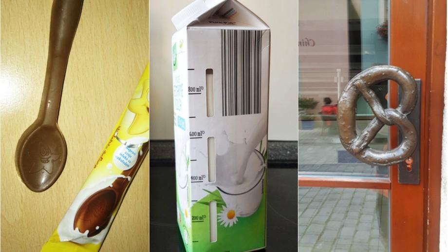 (foto) Cutie cu lapte gradată, mâner specializat sau linguriță din ciocolată. Cum arată lucrurile ciudate cu design neobișnuit
