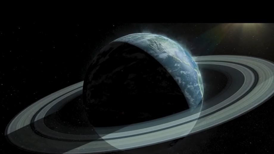 """(foto) Astronom rus: """"Planeta Pământ a avut inele ca și Saturnul, dar după o explozie ele s-au transformat în Lună"""""""