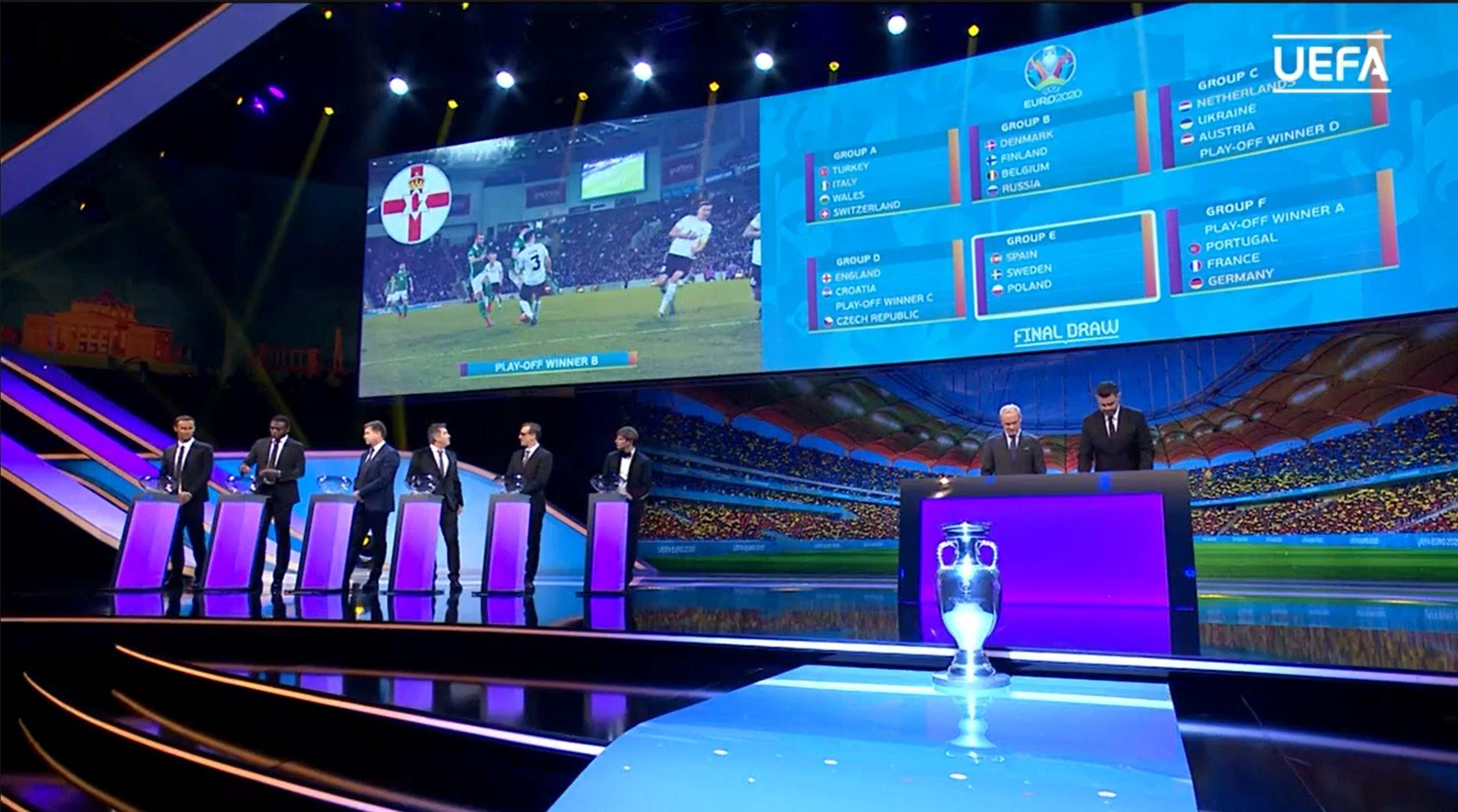 """UEFA a definitivat grupele EURO 2020. Care este """"grupa morții"""" și în ce grupă vor evolua Ucraina și, dacă se califică, România"""